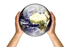 Tragen der Welt Stockbild