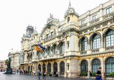 Tragen Sie cityspace Vell und Barcelonas in Katalonien, Barcelona, Spanien Lizenzfreies Stockbild