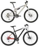 Tragen Sie das Fahrrad zur Schau, das auf dem weißen Hintergrund mit dem Abschneiden von PA lokalisiert wird Stockfoto
