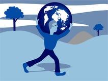 Tragen Sie die Welt lizenzfreie abbildung