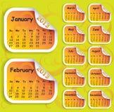 Tragen Sie für Jahr 2013 auf Aufkleber ein Lizenzfreies Stockbild
