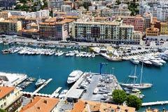 Tragen Sie Lympia in Nizza in Frankreich, Vogelperspektive Lizenzfreies Stockbild