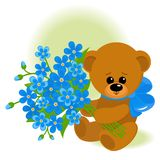 Tragen Sie mit Blumenstrauß Lizenzfreies Stockfoto