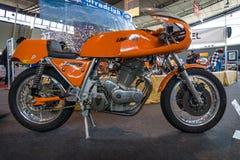 Tragen Sie Motorrad Laverda 750 SFC E, 1975 zur Schau Lizenzfreies Stockfoto