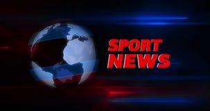 Tragen Sie Nachrichtensendungs-Titelintro mit Kugel im Hintergrund zur Schau vektor abbildung