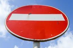 Tragen Sie nicht Verkehrszeichen ein Stockbild