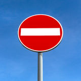 Tragen Sie nicht Verkehrszeichen ein Lizenzfreie Stockbilder