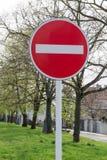 Tragen Sie nicht Zeichen auf der Straße ein Lizenzfreies Stockfoto
