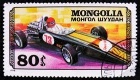 tragen Sie Rennwagen, Autorennen serie, circa 1978 zur Schau Stockbild