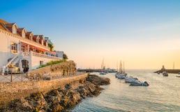 Tragen Sie Sauzon an Insel Belle Ile-en Mer, Frankreich Lizenzfreies Stockfoto