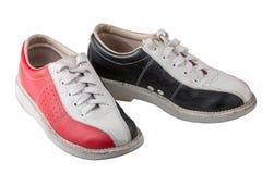 Tragen Sie Schuhe für das Rollen lokalisiert auf weißem Hintergrund zur Schau Stockfotografie