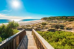 Tragen Sie Willunga-Strand an einem Tag, Adelaide Stockfoto
