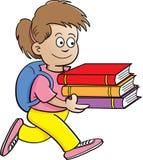 Tragende Bücher des Mädchens Lizenzfreie Stockfotografie