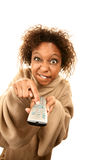Tragende Decke der Frau mit Hülsen stockfoto