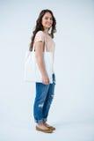 Tragende Einkaufstasche der Schönheit Lizenzfreies Stockfoto