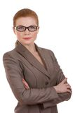 Tragende Gläser der Geschäftsfrau Stockbilder