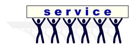Tragende Service-Belastung der Leute Stockbilder