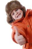 Tragende Winterkleidung des Kindes Lizenzfreie Stockfotografie
