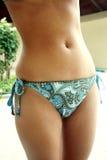 Tragender Bikini des Mädchens Lizenzfreie Stockfotos