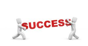 Tragender Erfolg der Person. Geschäftskonzept Stockfoto
