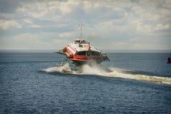 Tragflügelbootboot Lizenzfreie Stockfotos