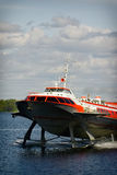 Tragflügelbootboot Stockfotos