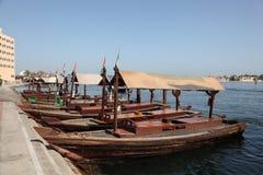 Traghetti tradizionali di Abra Fotografia Stock Libera da Diritti