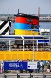 Traghetto al porto di traghetto, Liverpool Fotografie Stock