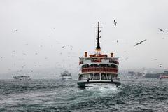 Traghetto in Bosphorus Immagini Stock Libere da Diritti