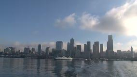 Traghetto che lascia Seattle, Stati Uniti archivi video