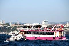 Traghetto a Costantinopoli, Turchia Fotografia Stock