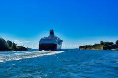 Traghetto d'addio a Helsinki, Finlandia Fotografia Stock
