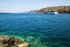 Traghetto da Santorini fotografie stock