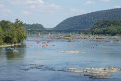 Traghetto dei Harpers - tubatura sul fiume Potomac Immagine Stock