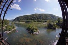 Traghetto dei Harpers - tubatura sul fiume Potomac Immagini Stock