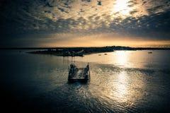 Traghetto del fiume alla vigna di Martha's fotografia stock libera da diritti