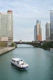 Traghetto del fiume del Chicago Fotografie Stock Libere da Diritti