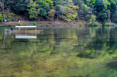 Traghetto del Giappone Arashiyama Fotografia Stock