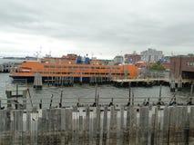 Traghetto dell'isola di Staten fotografie stock libere da diritti