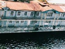 Traghetto della nave abbandonato annata arrugginita Immagine Stock Libera da Diritti