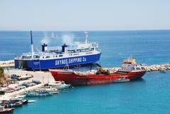 Traghetto di Achilleas, Alonissos Fotografie Stock Libere da Diritti