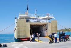 Traghetto di Agios Nektarios Aiginas, isola di Aegina Immagine Stock Libera da Diritti