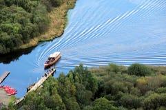 Traghetto di Derwentwater nel distretto dei laghi Immagini Stock