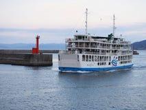 Traghetto di Kagoshima Sakurajima fotografie stock