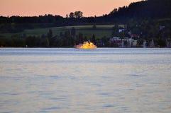 Traghetto di passeggero sul lago Constance Fotografie Stock
