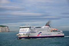 Traghetto di SeaFrance che si avvicina a Dover Fotografie Stock Libere da Diritti