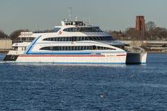 Traghetto diretto all'estero Grey Lady del Hy-Line IV Fotografie Stock Libere da Diritti