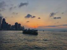 traghetto e soleggiato Fotografie Stock Libere da Diritti