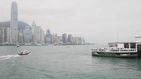 Traghetto Hong Kong stock footage