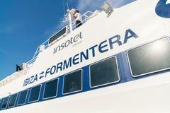 Traghetto Ibiza a Formentera, Spagna fotografia stock